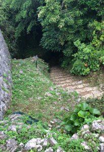 大井戸の階段