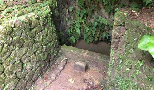 大井戸の前